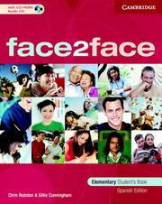 Cover of: face2face Elementary Student