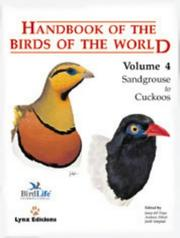 Cover of: Handbook of the Birds of the World. Volume 4 | Jordi Sargatal
