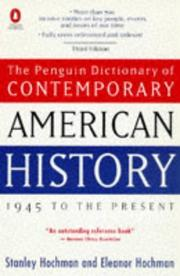 Cover of: The Penguin dictionary of contemporary American history, 1945 to the present