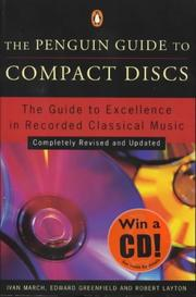 Cover of: The Penguin guide to compact discs