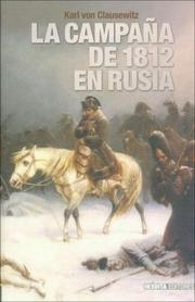 Cover of: La Campana de 1812 En Rusia