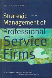Cover of: Strategic management of professional service firms