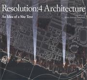 Cover of: Resolution:4 architecture |