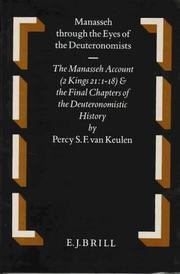 Cover of: Manasseh through the eyes of the Deuteronomists