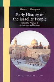 Cover of: Early history of the Israelite people | Thomas L. Thompson