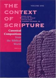 Cover of: The Context of Scripture |