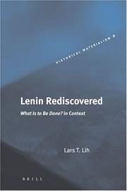 Cover of: Lenin rediscovered: what is to be done? in context