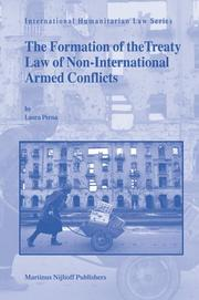 Cover of: The Formation of the Treaty Law of Non-International Armed Conflicts | Laura Perna