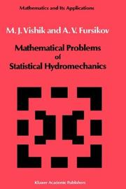 Cover of: Mathematical problems of statistical hydromechanics | M. I. Vishik