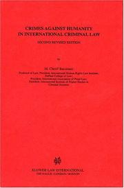 Cover of: Crimes against humanity in international criminal law