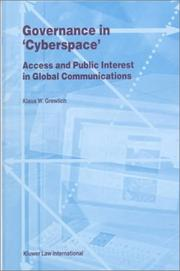 "Cover of: Governance in ""cyberspace"""
