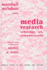 Cover of: Media research: technology, art, communication