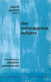 Cover of: Information Subject