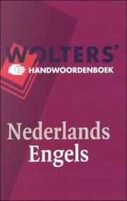 Cover of: Wolters' handwoordenboek Nederlands-Engels
