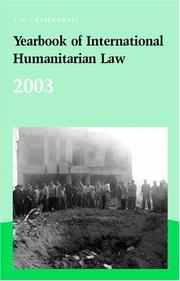 Cover of: Yearbook of International Humanitarian Law - 2003 (Yearbook of International Humanitarian Law) |