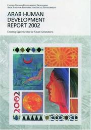 Cover of: The Arab human development report 2002 |