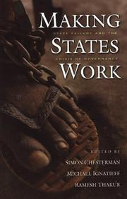 Cover of: Making states work