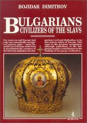 Cover of: Bulgarians, civilizers of the Slavs