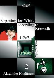 Cover of: Opening for White According to Kramnik 1.nf3 | Alexander Khalifman