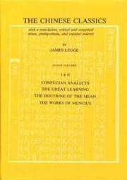 Cover of: Confucian Analects, The Great Learning & The Doctrine of The Mean