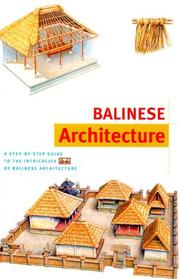 Cover of: Balinese Architecture (Discover Indonesia Series) | Julian Davison