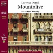 Cover of: Mountolive (The Alexandria Quartet, 3)