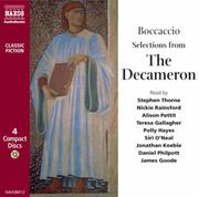 Cover of: The Decameron (Classic Literature with Classical Music)