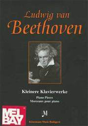 Cover of: Beethoven Piano Pieces