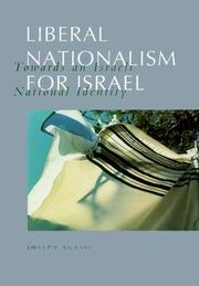Cover of: Liberal Nationalism for Israel | Joseph Agassi