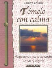 Cover of: TOMELO CON CALMA (SUPERACIÓN PERSONAL)