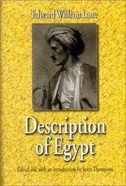 Cover of: Description of Egypt: notes and views in Egypt and Nubia, made during the years 1825, -26, -27, and -28 ...