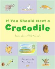 Cover of: If You Should Meet a Crocodile | Anna Currey