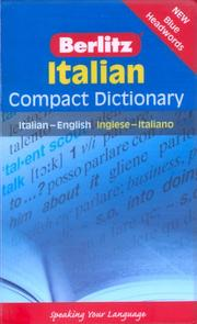 Cover of: Italian (Berlitz Compact Dictionary S.) | Berlitz Publishing
