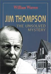 Cover of: Jim Thompson The Unsolved Mystery | William Warren