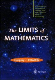 Cover of: The Limits of Mathematics