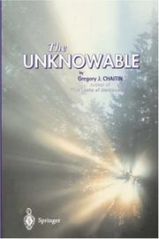 Cover of: The unknowable
