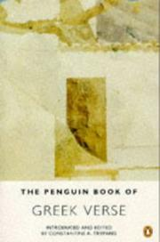 Cover of: The Penguin Book of Greek Verse | Constantine A. Trypanis