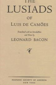 Cover of: The Lusiads of Luis de Camões