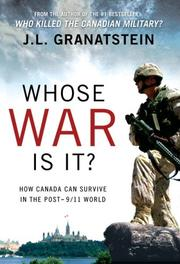 Cover of: Whost War Is It?: How Canada Can Survive the Post-9/11 World
