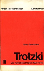 Cover of: Trotzki |