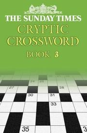 "Cover of: The ""Sunday Times"" Cryptic Crossword [Book 3] (Crossword)"