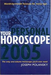 Cover of: Your Personal Horoscope 2005 | Joseph Polansky