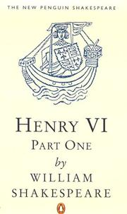 Cover of: Henry VI, Part 1