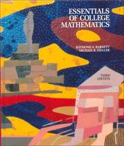 Cover of: Essentials of college mathematics for business, economics, life sciences, and social sciences