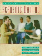 Cover of: Perspectives on academic writing