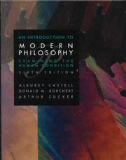 Cover of: An introduction to modern philosophy