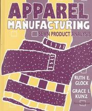 Cover of: Apparel manufacturing | Ruth E. Glock
