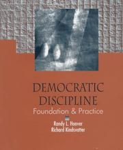 Cover of: Democratic Discipline | Randy L. Hoover, Richard Kindsvatter