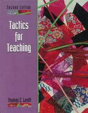 Cover of: Tactics for Teaching