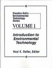 Cover of: Prentice Hall's Environmental Technology Series, Vol I